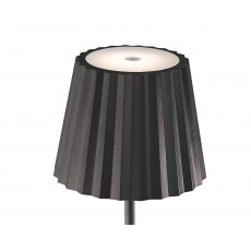 Pleat table lamp black