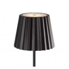Pleat floor lamp black