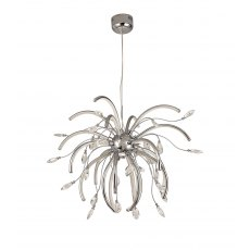Catrine Crystal Chrome Large Pendant Light