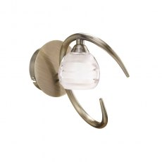 Palacio Single antique brass wall light