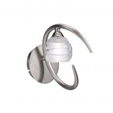Palacio Single satin nickel wall light