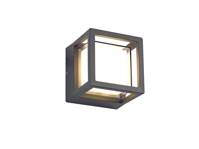 Raspay Coastal outdoor anthracite square wall light