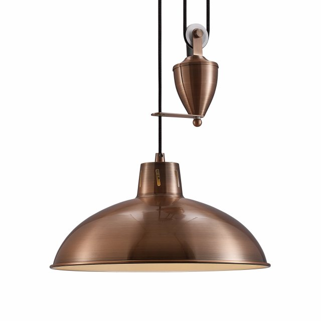 Julia Jones Retro Rise & Fall antique copper pendant