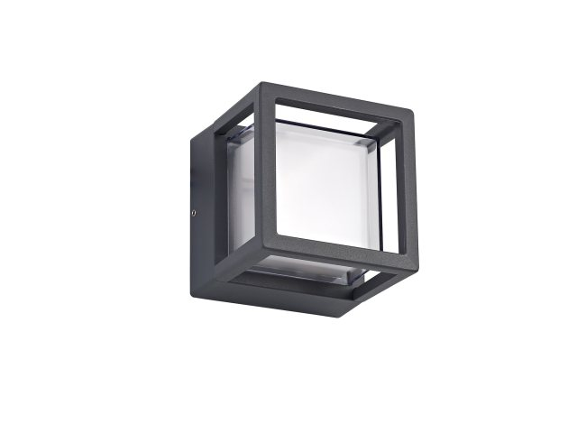 Julia Jones Raspay Coastal outdoor anthracite square wall light