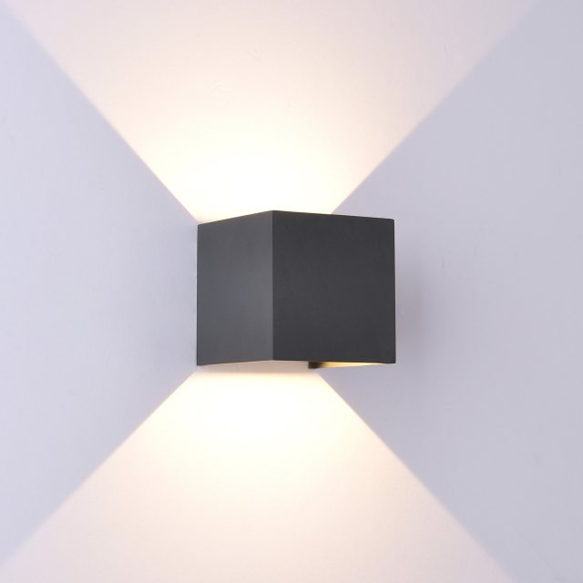 Julia Jones Davo Coastal Qube anthracite wall light