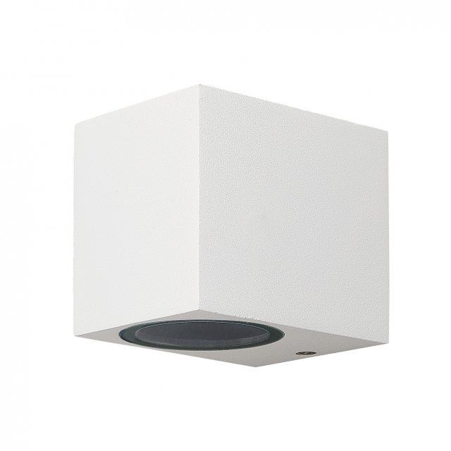 Julia Jones Zamora Coastal Single Square white wall light