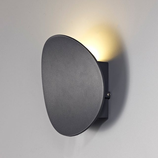 Julia Jones Mea Coastal wash anthracite wall light