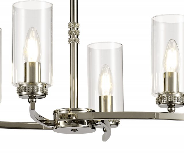 Julia Jones Domecelle Nickel 6 Light Pendant Ceiling Light