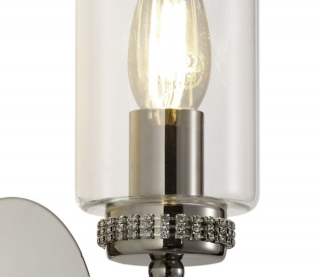 Julia Jones Domecelle Nickel Single Wall Light
