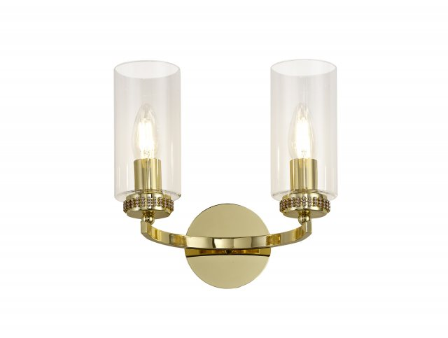 Julia Jones Domecelle Gold Double Wall Light