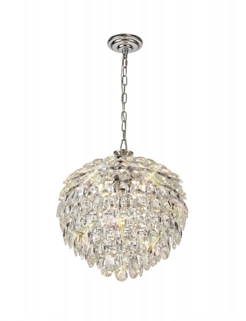 Coto chrome crystal medium pendant light