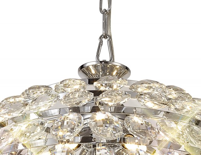 Julia Jones Coto chrome crystal medium pendant light