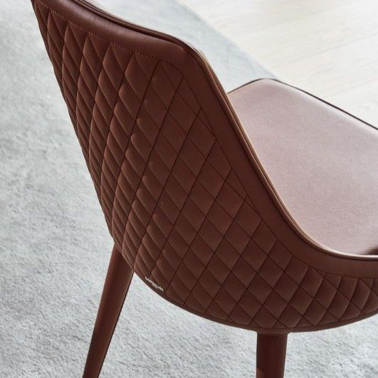 Bontempi Casa Clara chair with quilted back