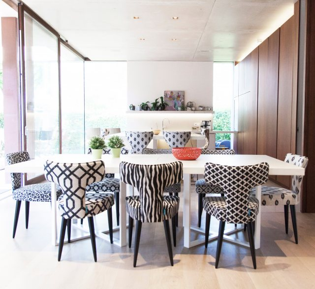Colourful fama dining chairs