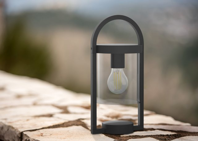 Julia Jones Mahon Coastal Outdoor Anthtacite Pillar Light