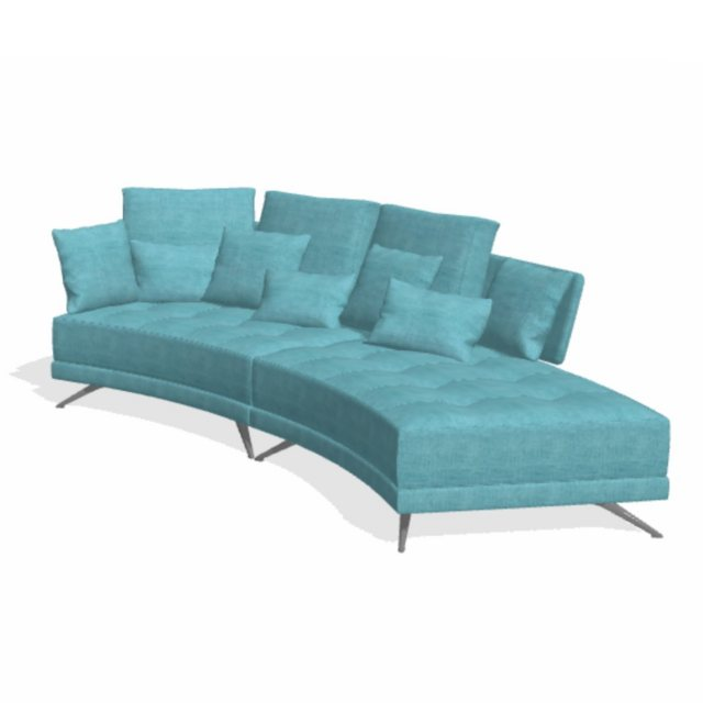 Fama Pacific 4 seater curved chaise