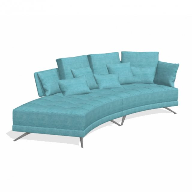 Fama Pacific 4 seater curved WZ chaise
