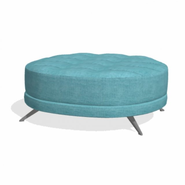 Fama Pacific round footstool