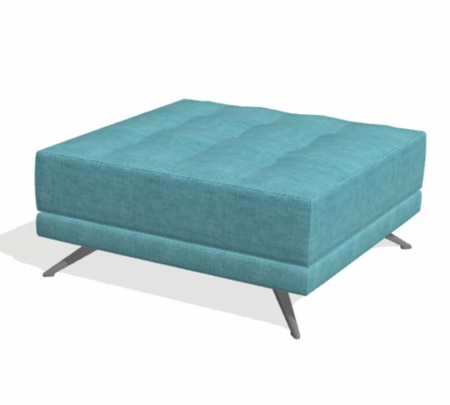 Fama Pacific square footstool