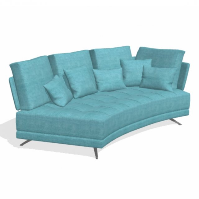 Fama Pacific 3 seater curved sofa