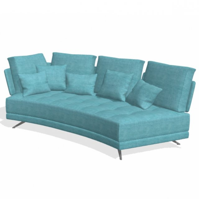 Fama Pacific 3 seater curved YL sofa
