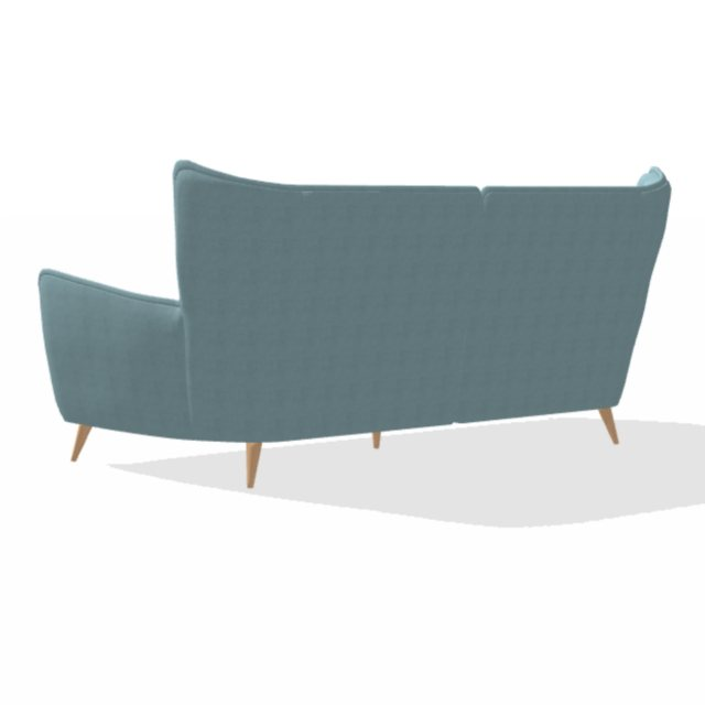 Contemporary winged back sofa