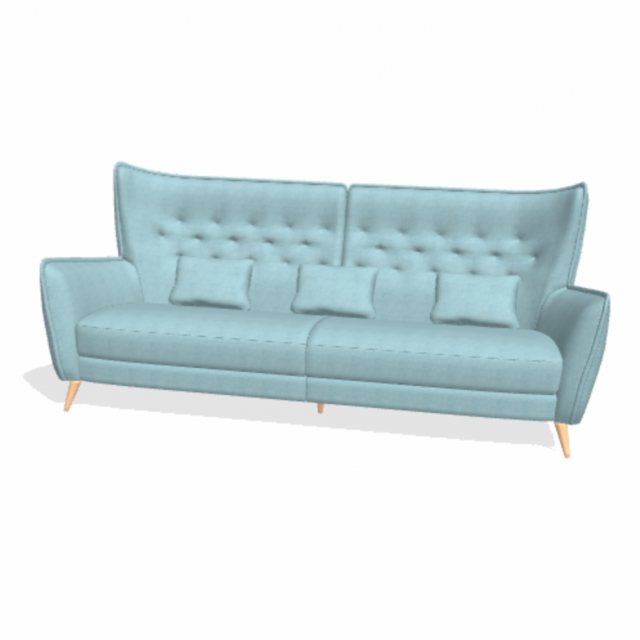 Modern winged back sofa