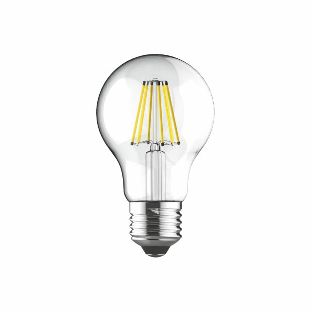 Julia Jones E27 LED GLS 8w 2700k 806lm dimmable clear lamp