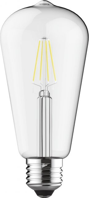 Julia Jones E27 LED Rustika 6.5w 2700k 710lm dimmable clear lamp