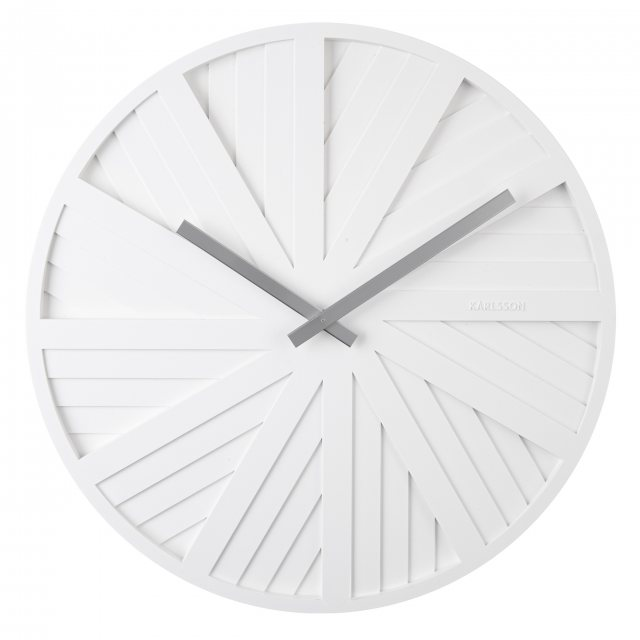 Sliders white wall clock