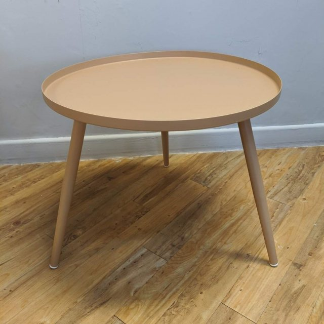 Large Elle side table in sand colour