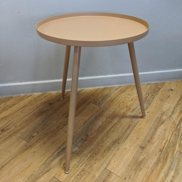 Medium Elle side table in sand colour