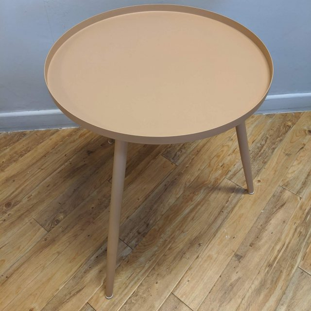 Sand colour medium side table