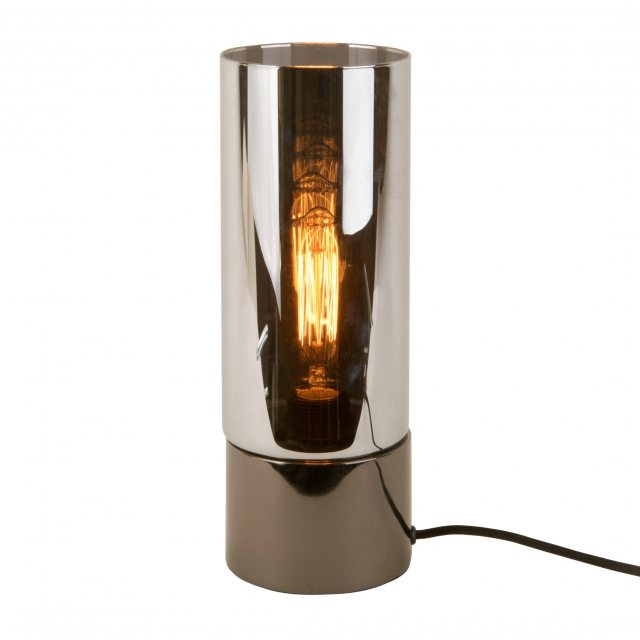 Lax smoke grey table lamp