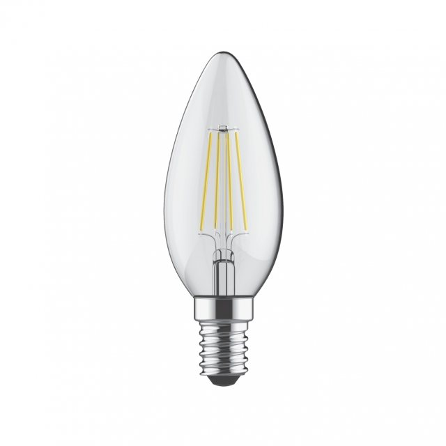 Julia Jones E14 LED Candle 2700k 400lm dimmable clear lamp
