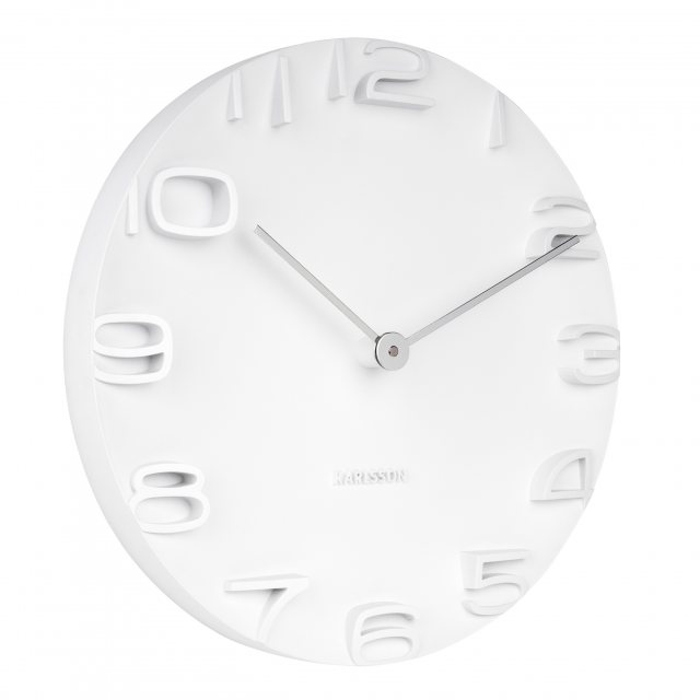 On the edge white wall clock