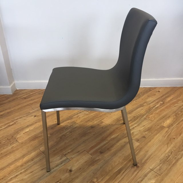 Modern grey kitchen chair