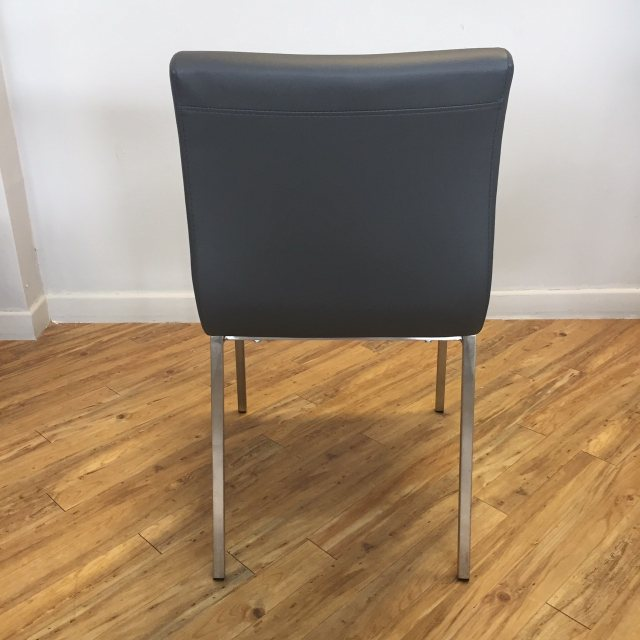 Low back grey dining chair