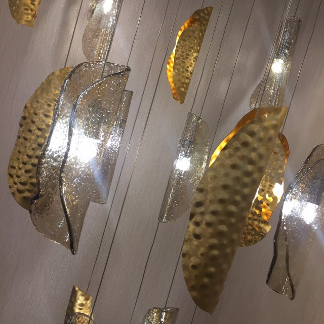 Gold statement light