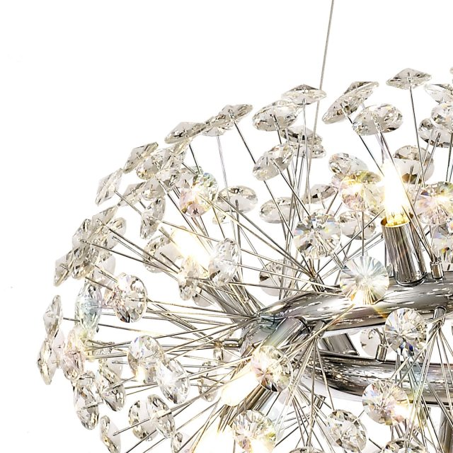 Circular crystal ceiling light