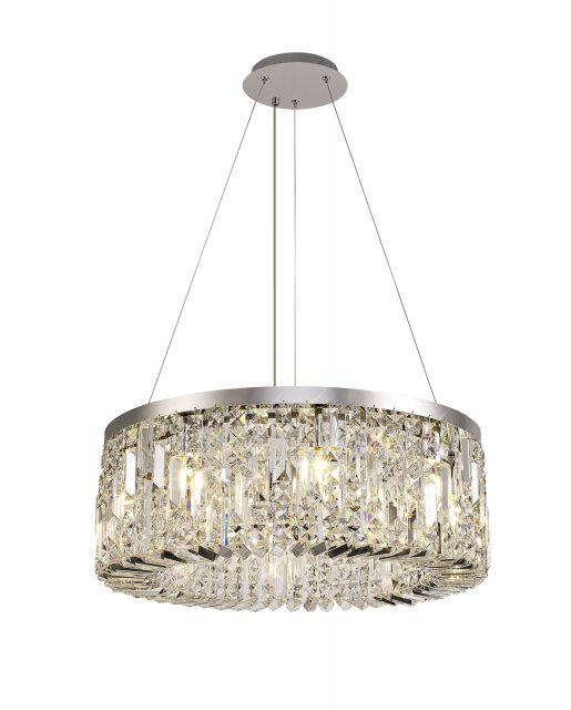 Julia Jones Zahara 8 chrome pendant