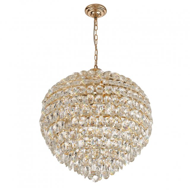 Gold crystal feature light