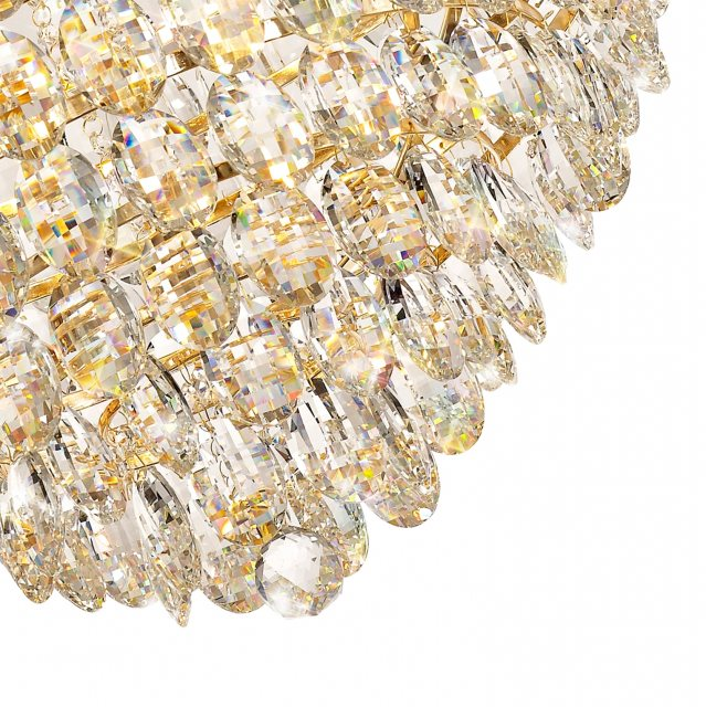 Julia Jones Coto french gold crystal XL pendant light