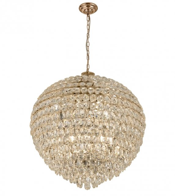 Coto french gold crystal XXL pendant light