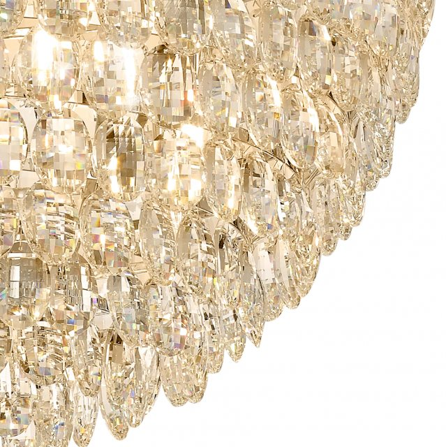 Julia Jones Coto french gold crystal XXL pendant light