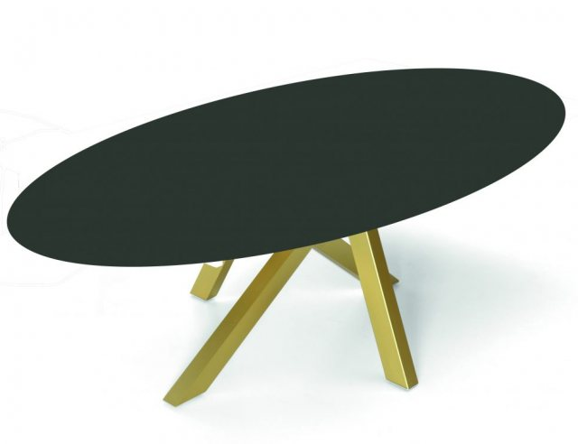 Oval statement dining table