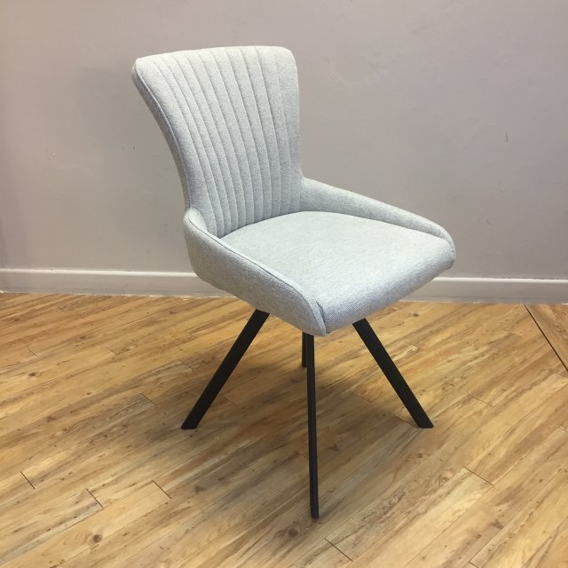 Grey swivel dining chair
