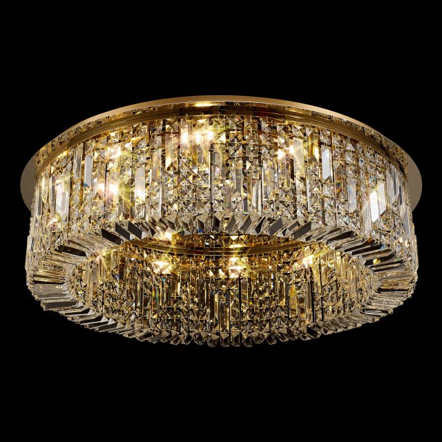 Large crystal flush light