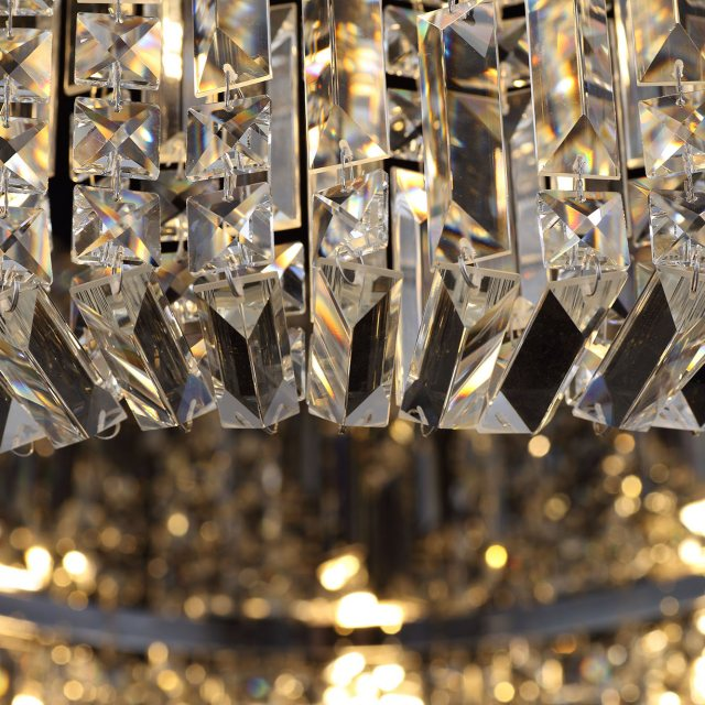 Julia Jones Zahara 12 french gold crystal flush light