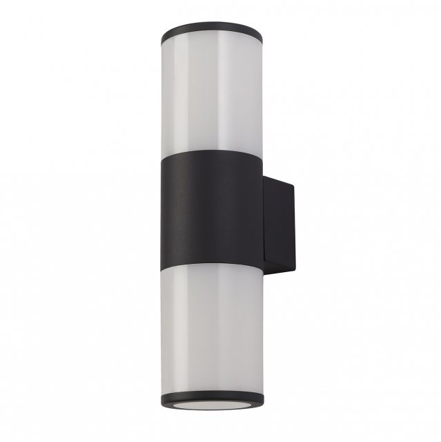 Anthracite outdoor twin wall light